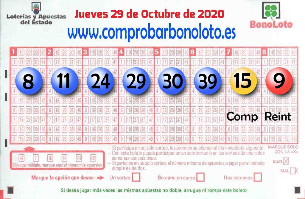 Sorteo de La Bonoloto del 29 de octubre: el segundo premio cae en Málaga