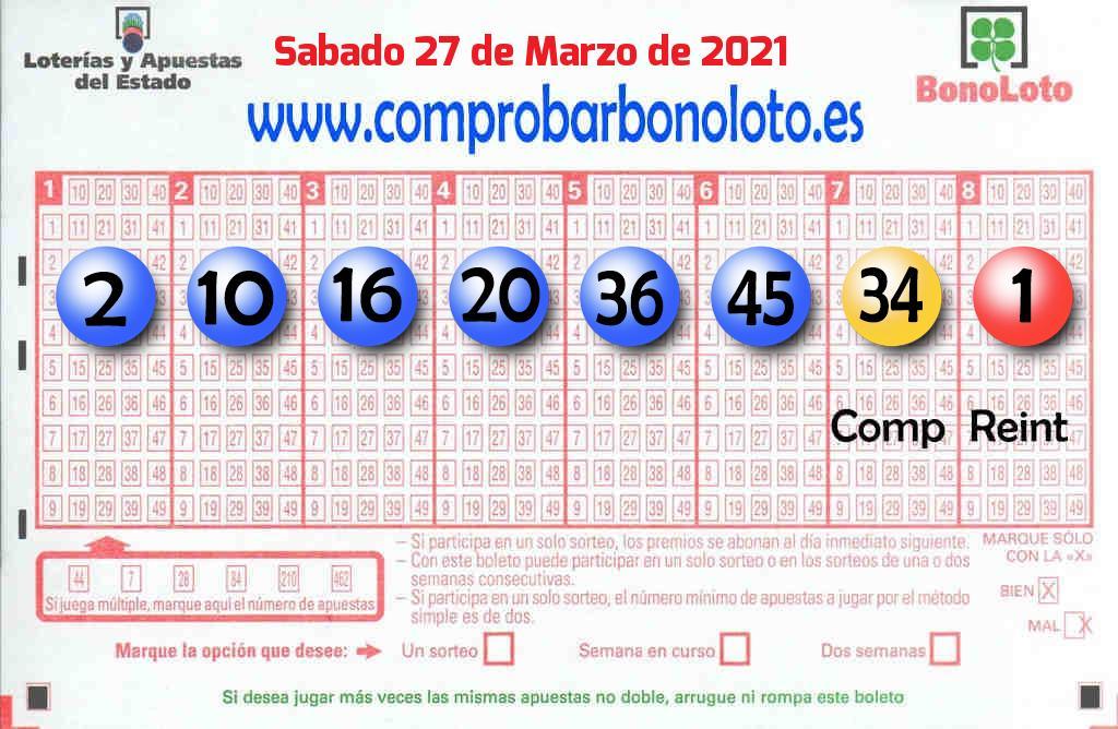 La Bonoloto de este Sábado reparte 52.000 euros en Cartagena