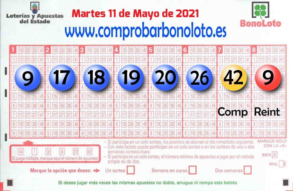 La Bonoloto deja un acertante de segunda categoría en León este Martes